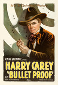 """Movie Posters:Western, Bullet Proof (Universal, 1920). One Sheet (27"""" X 41"""").. ..."""