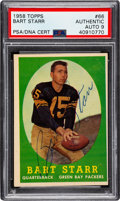Autographs:Sports Cards, Signed 1958 Topps Bart Starr #66 PSA/DNA Auto 9. ...