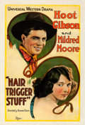 "Movie Posters:Western, Hair Trigger Stuff (Universal, 1920). One Sheet (27.25"" X 41"").. ..."