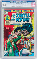 Bronze Age (1970-1979):Horror, Marvel Classics Comics #1 Dr. Jekyll and Mr. Hyde (Marvel, 1976)CGC NM 9.4 White pages....