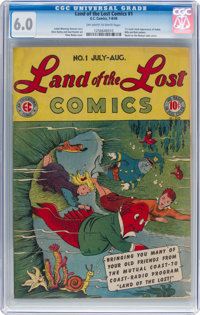 Land of the Lost Comics #1 (EC, 1946) CGC FN 6.0 Off-white to white pages