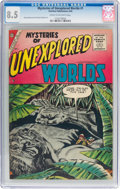 Silver Age (1956-1969):Horror, Mysteries of Unexplored Worlds #1 (Charlton, 1956) CGC VF+ 8.5Cream to off-white pages....