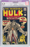 Silver Age (1956-1969):Superhero, The Incredible Hulk #1 (Marvel, 1962) CGC Apparent FN 6.0 Slight (P) Off-white pages....