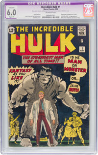 The Incredible Hulk #1 (Marvel, 1962) CGC Apparent FN 6.0 Slight (P) Off-white pages