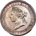 Hong Kong :British Colony, Hong Kong : British Colony. Victoria Dollar 1867 AU Details (Surface Hairlines) NGC,...
