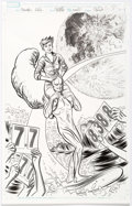 Original Comic Art:Covers, Michael Allred Unbeatable Squirrel Girl #27 Variant CoverSilver Surfer Original Art with Comic (Marvel, 2018).... (Total: 2Items)