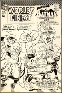 Curt Swan and George Klein World's Finest #168 Cover Superman, Batman, and Robin Original Art (DC, 1967)