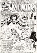 Original Comic Art:Splash Pages, Don Heck and Mike Esposito (as Mickey Demeo) Tales ofSuspense #67 Splash Page 1 Iron Man Original Art (Marvel, 19...