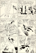 Original Comic Art:Panel Pages, Jack Kirby and Paul Reinman X-Men #1 Story Page 4 Angel and Professor Xavier Original Art (Marvel, 1963)....