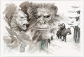 "Original Comic Art:Illustrations, Eric Powell Birth.Movies.Death. Magazine Cover ""War forPlanet of the Apes"" Original Art (Alamo Drafthouse, 2011)...."