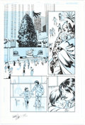 Original Comic Art:Panel Pages, Mike Norton JSA: Classic #33 Story Page 21 Original Art (DC,2008)....