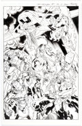 Original Comic Art:Splash Pages, Mark Bagley and Andrew Hennessy Cataclysm: The Ultimates' Last Stand #1 Internal Splash Original Art (Marvel Comic...