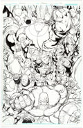 Original Comic Art:Splash Pages, Fernando Pasarin and Scott Hanna Green Lantern Corps #19Splash Page 20 Original Art (DC, 2013)....