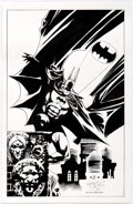 Original Comic Art:Splash Pages, Kelley Jones and Kevin Nowlan - Batman Pin-Up Original Art(2018)....