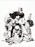 Original Comic Art:Illustrations, Chris Samnee - Captain America Specialty Illustration Original Art(2018)....