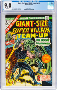 Giant-Size Super-Villain Team-Up #1 (Marvel, 1975) CGC VF/NM 9.0 White pages