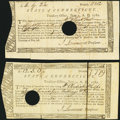 Colonial Notes:Connecticut, State of Connecticut Treasury Office June 1, 1782 Two Examples VeryFine.. ... (Total: 2 notes)