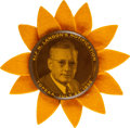 """Political:Pinback Buttons (1896-present), Alf Landon: Large 2 ¼"""" Notification Picture Pin. ..."""