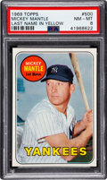 Baseball Cards:Singles (1960-1969), 1969 Topps Mickey Mantle (Yellow Letters) #500 PSA NM-MT 8....