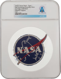 """NASA """"Meatball"""" Vector Logo: Neil Armstrong's Personally-Owned and Worn Type I Insignia Patch Directly"""
