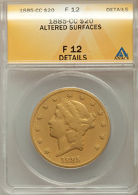 1885-CC $20 -- Altered Surfaces -- ANACS. Fine 12 Details