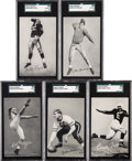 Football Cards:Lots, 1948-52 W468 Exhibits Football Hall of Famers SGC-Graded Collection (5). ...