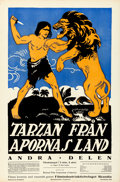 "Tarzan of the Apes (National Film, 1918). Swedish One Sheet (23.25"" X 35"")"
