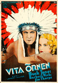"Movie Posters:Western, White Eagle (Columbia, 1932). Swedish One Sheet (27.5"" X 39"") Gosta Aberg Artwork.. ..."