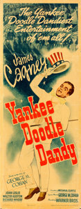 "Movie Posters:Musical, Yankee Doodle Dandy (Warner Brothers, 1942). Linen Finish Insert(14"" X 36"") From the Warner Media Archive."
