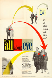 "All About Eve (20th Century Fox, 1950). One Sheet (27"" X 41"")"