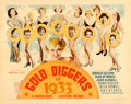 """Movie Posters:Musical, Gold Diggers of 1933 (Warner Brothers, 1933). Half Sheet (22"""" X 28"""").. ..."""