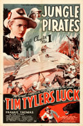 "Movie Posters:Serial, Tim Tyler's Luck (Universal, 1937). One Sheet (27"" X 41"") Chapter 1 -- ""Jungle Pirates."". ..."