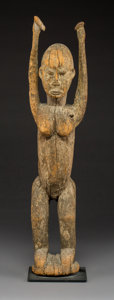 Other, A Large Female Figure with Upraised Arms, Dogon People, Mali ...