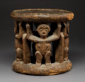 Tribal Art, A Cameroon Stool With Figures...