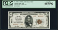 National Bank Notes:Pennsylvania, Crafton, PA - $5 1929 Ty. 2 The First NB Ch. # 6010 PCGS Gem New 65PPQ.. ...