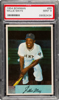 Baseball Cards:Singles (1950-1959), 1954 Bowman Willie Mays #89 PSA Mint 9 - None Higher....