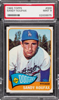 Baseball Cards:Singles (1960-1969), 1965 Topps Sandy Koufax #300 PSA Mint 9 - None Higher....