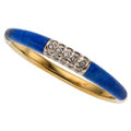 Estate Jewelry:Bracelets, Diamond, Lapis Lazuli, Gold Bracelet. ...