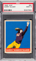 Football Cards:Singles (Pre-1950), 1949 Leaf Harry Gilmer #62 PSA MINT 9 - Pop Two, None Higher. ...