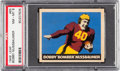 Football Cards:Singles (Pre-1950), 1949 Leaf Bobby Nussbaumer #65 PSA NM-MT 8 - Only One Higher. ...