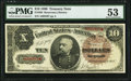 Large Size:Treasury Notes, Fr. 366 $10 1890 Treasury Note PMG About Uncirculated 53.. ...