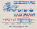 Political:Posters & Broadsides (1896-present), John F. Kennedy: Rare Cartoon Poster....