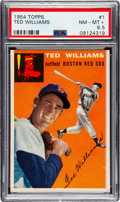 Baseball Cards:Singles (1950-1959), 1954 Topps Ted Williams #1 PSA NM-MT+ 8.5....
