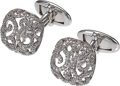 Estate Jewelry:Cufflinks, Diamond, White Gold Cuff Links, Assil N.Y.. ...