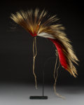 American Indian Art:Pipes, Tools, and Weapons, A Cheyenne Hair Roach...