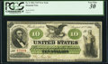 Large Size:Demand Notes, Fr. 6 $10 1861 Demand Note PCGS Very Fine 30.. ...