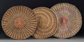 American Indian Art:Baskets, Three Hopi Wicker Plaques... (Total: 3 Items)
