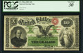 Large Size:Interest Bearing Notes, Fr. 196a $10 1863 Interest Bearing Note PCGS Very Fine 30.. ...