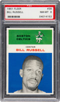 Basketball Cards:Singles (Pre-1970), 1961 Fleer Bill Russell #38 PSA NM-MT 8....
