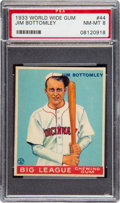 Baseball Cards:Singles (1930-1939), 1933 World Wide Gum Jim Bottomley #44 PSA NM-MT 8....